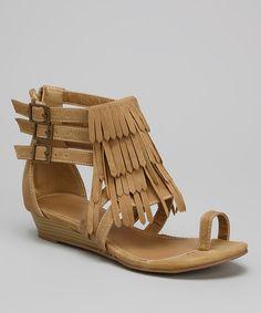 Camel Fringe Fema Sandal | something special every day