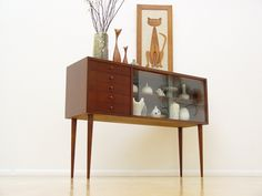 Danish Mid-Century Modern Credenza Display Cabinet Eames Era Hollywood Regency (yes - yes - yes!!!)