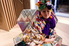 Milano Design Week 2013 with Bethan Laura Wood - Missoni boutique, armchair by Patricia Urquiola