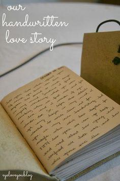 Eye Love You Blog: Our Handwritten Love Story