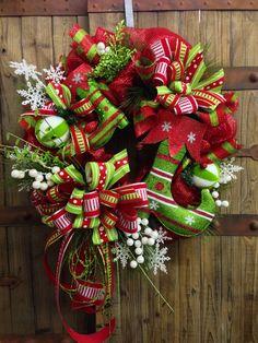 Whimsical Elf Boot Mesh Wreath on Etsy, $129.00