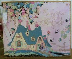 Vintage Mother's Day Card-Pretty Cottage! by MissConduct*, via Flickr
