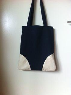 sac tote bag marine & écru shopping pratique FIN DE SERIE : Sacs bandoulière par sheren
