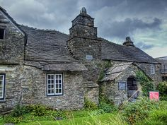 The beautiful Old Post Office, a 14th-century stone building, in Tintagel, Cornwall, England. It is now under the ownership of The National Trust (photo credit - neilalderney123)