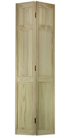 Frameport 30 In X 80 In 6 Panel Pine Unfinished Premium Interior Bi Fold Closet Door 3115330