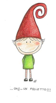 Oh! an elf ! Watercolor Christmas Cards, Christmas Drawing, Christmas Paintings, Watercolor Cards, Christmas Art, Doodle Drawings, Doodle Art, Art Fantaisiste, Illustration