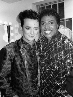 Boy George and Little Richard - 1985