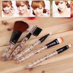 5PCS Soft Make-up Brushes and Eyebrow Comb Eyebrow Brush