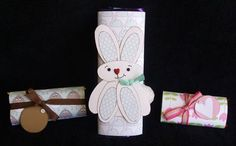 Decorated chocolate bars for Easter.  (Rabbit is a lift from a previous pinned item)