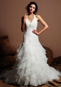 wedding dress,wedding dresses,wedding dress,wedding dresses halter natural waist cascading ruffles chapel train wedding dress