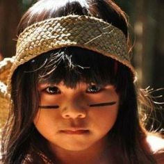 Children of Kayapó´s Tribe, a tribe of Amazonia - Brasil