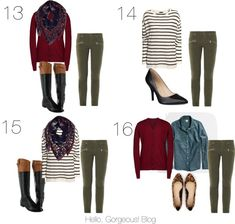 Wardrobe capsule-striped shirt,maroon sweater n olive pants Olive Green Pants Outfit, Green Leggings, Olive Outfits, Maroon Pants Outfit, Green Outfits, Maroon Sweater, Casual Outfits, Cute Outfits, Fashion Outfits