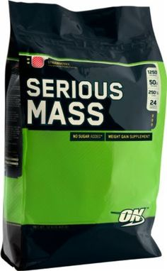 Optimum Nutrition Serious Mass Strawberry 12 Lbs. OPT190 Strawberry - Loaded with 1,250 Calories, 250g of Carbs, & 25 Vitamins and Minerals to Pack on Pounds*
