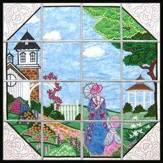 Victorian Garden - Appliscape Embroidery Designs ~ Divine Designs at Secretsof.com
