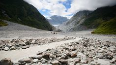 Path to Glacier - It's getting smaller than I was expected and differently smaller than last visit. Fox Glacier, South Island, New Zealand South Island, New Zealand, Paths, My Photos, Fox, Mountains, Nature, Travel, Voyage