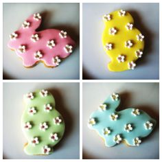 Some people are too talented for their own good :)    Easter biscuits (lemon butter biscuits, topped with fondant icing and hand crafted flowers) made by The Snowdrop Bakery