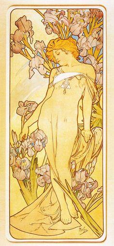 Iris, Alphonse Mucha