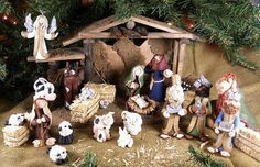 Nativity Set by BertsClayCreations on Etsy