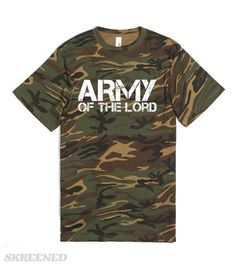 """Army of the Lord, Camo Christian T-Shirt 