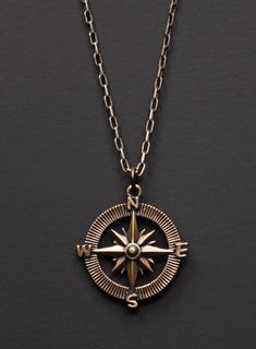 Copper Coin Skull Pendant Necklace Men Chain Gothic Tribal Emo Pirate Sailor Key
