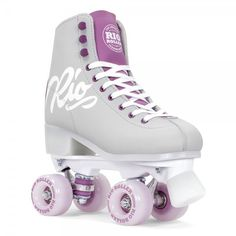 Fresh colors from Rio Roller - Script rollerskates in Grey/Purple are available now! #skates #rollerskates #quads #rioroller #script