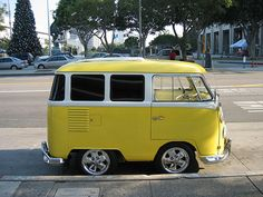 yellow mini camper!