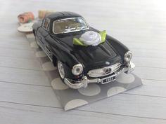 Geldgeschenk zur Hochzeit- Hochzeitsauto Oldtimer Mercedes Benz schwarz über http://de.dawanda.com/product/106998523-hochzeitsauto-mercedes-schwarz-geldgeschenk