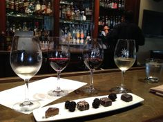 Trinitas Cellars Wine Bar offers a stellar selection of vino and apertifs ... and decadent chocolates