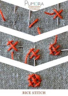 rice stitch tutorial