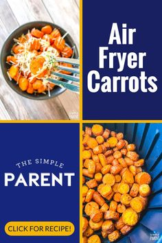 Try this easy to make carrot side dish in your air fryer! This healthy recipe can be made with whole carrots or baby carrots! It's perfect for family meals! #carrots #airfryer #sidedish Carrot Recipes, Healthy Recipes, Easy Recipes, Carrots Side Dish, Easy Vegetable Side Dishes, Baby Carrots, Roasted Carrots, Air Fryer Recipes, Side Dish Recipes