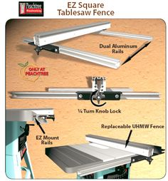 EZ Square Table Saw Fence