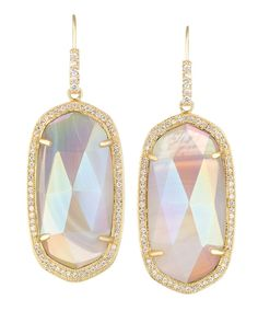 Bridal Jewelry Love these iridescent earrings by Kendra Scott! - Beautiful bridal jewelry by Kendra Scott featuring shimmering iridescent stones, statement necklaces and earrings. Wedding Jewelry, Jewelry Box, Jewelery, Jewelry Accessories, Fashion Accessories, Heart Jewelry, Marchesa, Lilly Pulitzer, Bridal Musings