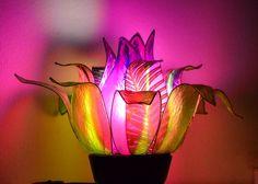 lampada fiore del lago viola di fiorediluce su Etsy