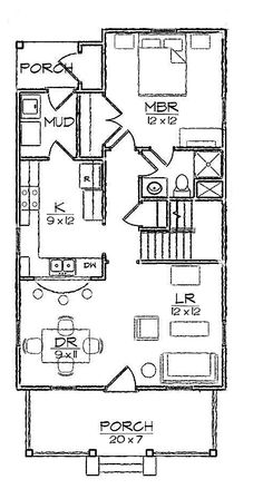 6 Plex 48x61 Good Floor Plan Could Do Small House