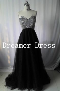 Black Prom DressesTulle Black Party Dresses by SuperDressFactory
