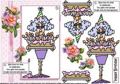 Stella time to celebrate on Craftsuprint designed by Carol Smith - a decoupage sheet featuring Stella who has a rather large birthday cake the comment being.... Woo Hoo it's time to celebrate... you light the candles I'll get the fire extinguisher! happy birthday tag also provided for the placement of your choice.thank you for looking please take a peek at my other items - Now available for download!