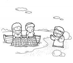 Jesus Calls His Disciples Coloring Page