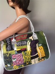 Custo Barcelona Bag Purse Green Designer Fashion Fruits Woman Chinese Market Hip #CustoBarcelona #Satchel