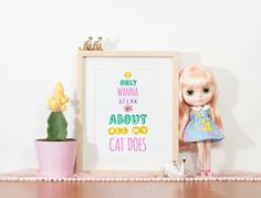 I only wanna speak about all my cat does  Cat by TwistThePrint