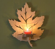Leaf Sconce | 15 Awesome Dremel Projects | Easy DIY Ideas to Make with Dremel, check it out at http://pioneersettler.com/dremel-projects/