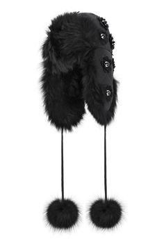 Fendi luxury leisurewear   Fendi Black Edition Fur Hat [Photo: Courtesy]