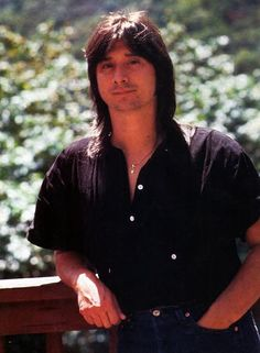 Steve Perry - Journey - one of my favorite photos! Love his necklace and to know how special it is to him! :)