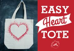Heart Tote Bag — Clumsy Crafter