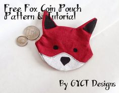sweet fox coin purse free pattern and tutorial from GYCT Designs - patterns for everyday life :D