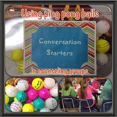 The Middle School Counselor: Ping Pong Balls as Icebreakers?!!!