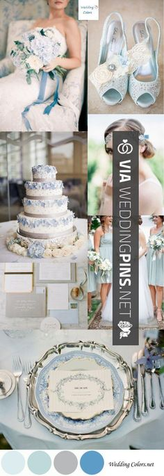 Sweet - Wedding Colour Schemes 2017 - Wedding Color Inspiration|Pastel Blue, Grey  White | CHECK OUT THESE OTHER COOL INSPIRATIONS FOR GREAT Wedding Colour Schemes 2017 OVER AT WEDDINGPINS.NET | #weddingcolourschemes2017 #weddingcolorschemes2017 #weddingcolours #weddingcolors #weddingmotif #2017 #colorpalettes #colorschemes #weddingthemes #weddings #boda #weddingphotos #weddingpictures #weddingphotography #brides #grooms