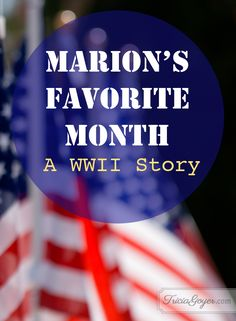 I get a few emails from veterans every week. I shared one last week, and here's another one I just had to share. Researching WWII novels is one of my favorite things to do because I get to meet amazing men like Marion!