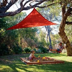 Features:  -UV stabilised, 145gsm knitted fabric.  -Shade canopy blocks up to 90% of harmful UV sun rays.  -Comes with rope for easy attachment.  -Easy to clean fabric with soap and water.  -Distresse Triangle Shade Sail, Sun Sail Shade, Shade Sails, Backyard Shade, Pergola Shade, Pergola Swing, Desert Backyard, Patio Shade, Pergola Cover
