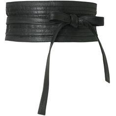 Leather Obi Belt ($54) ❤ liked on Polyvore