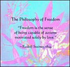Rudolf Steiner quote on freedom Rudolf Steiner, Steiner Waldorf, Waldorf Education, Physical Education, Special Education, Spiritual Inspiration, Early Childhood, Freedom, Inspirational Quotes